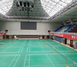 中润品质服务月从黄金周开启,外经贸红天体育馆运动地胶旧貌换新颜!