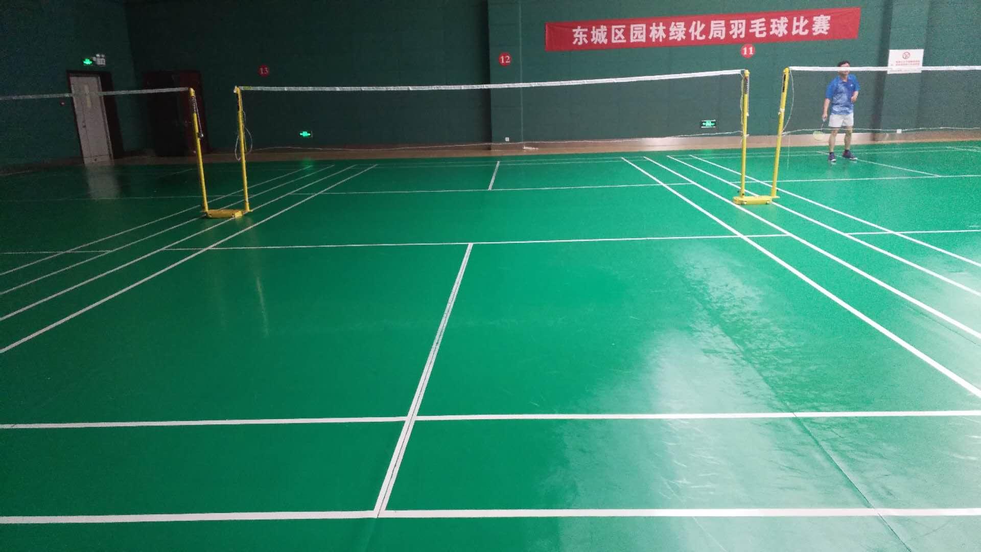 龙潭湖体育馆羽毛球地板清洁保养案例