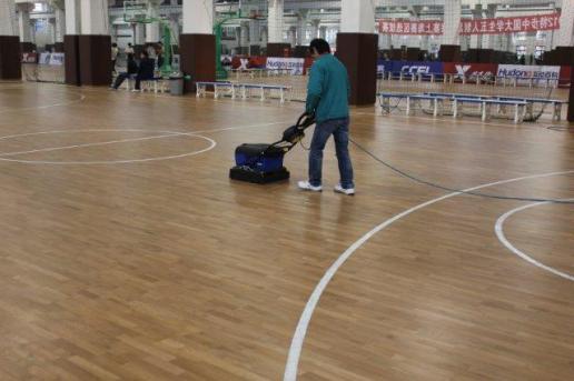 喜讯:首钢体育篮球场运动木地板清洁保养服务签约成功!
