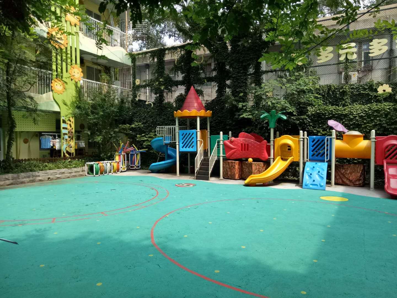 喜讯:与北京五色土幼儿园成功签约室外悬浮拼装地板项目!