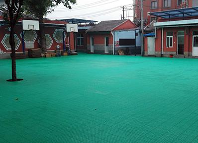 香厂路小学室外运动场-软连接悬浮式拼装地板惊艳四方