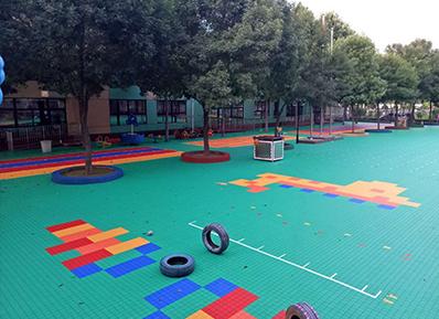 【案例回顾】幼儿园专用悬浮式拼装地板,昌平幼儿园没选错!