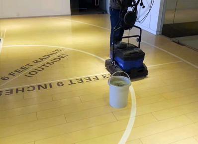 Bona合作伙伴中润致远鼎力相助NBA中国北京总部运动木地板养护