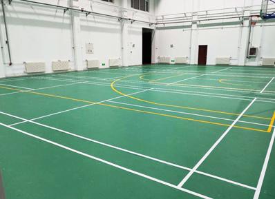 交通运输部水运科学研究所健身场地换上全新运动塑胶地板!