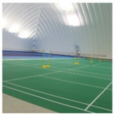 水晶砂羽毛球运动地板让英狮体育公园成为这个夏天一道亮丽的风景线