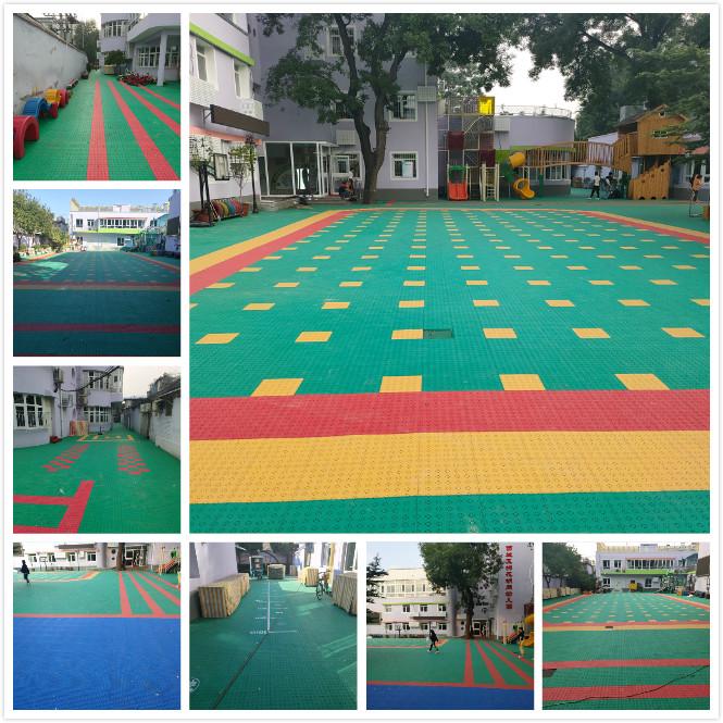 幼儿园专用悬浮式拼装地板,西城棉花胡同幼儿园没选错!