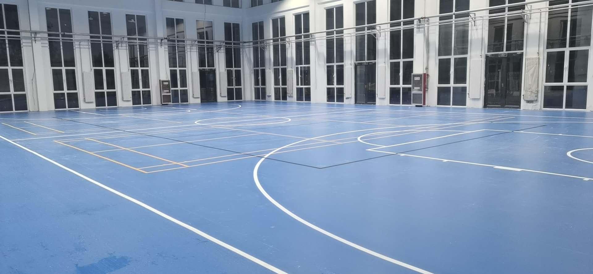 沙尔利格小学综合体育馆PVC运动地板惊艳了你我!