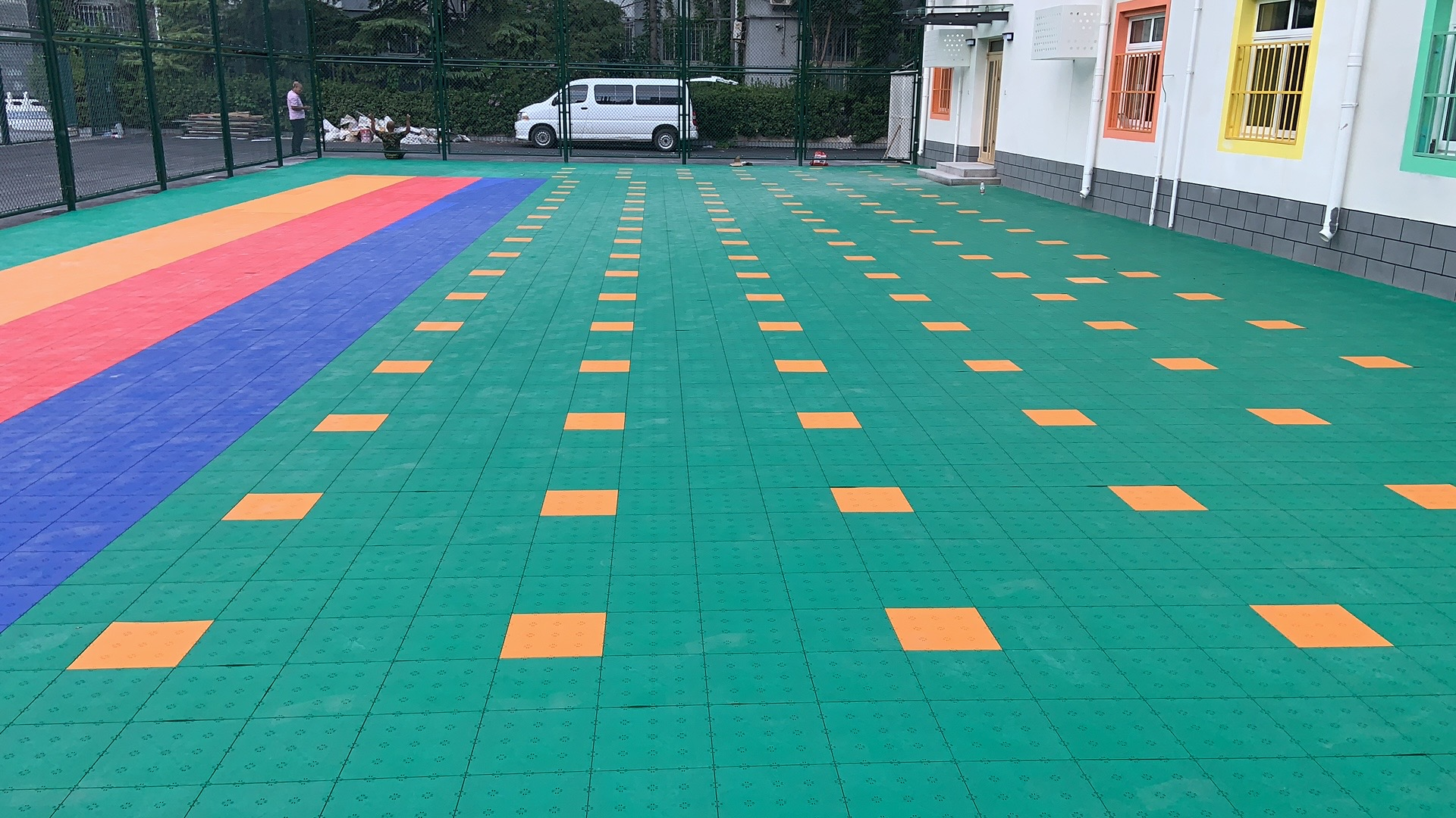 育才学校操场改造项目——SES球场弹性地板惊艳四方!