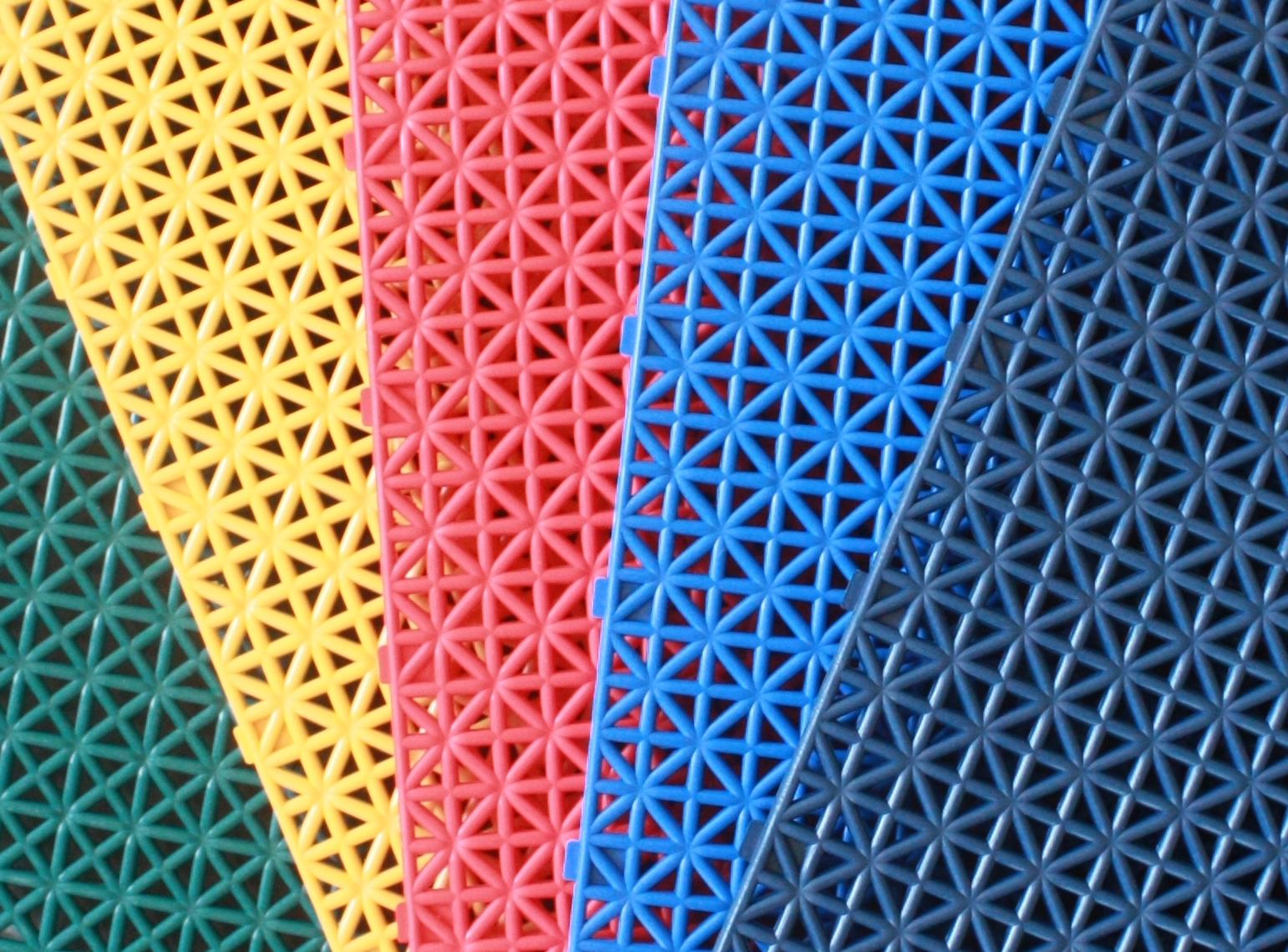 悬浮式拼装运动地板——单层米字