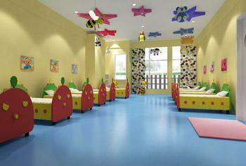 幼儿园米砂纹塑胶地板/运动地胶