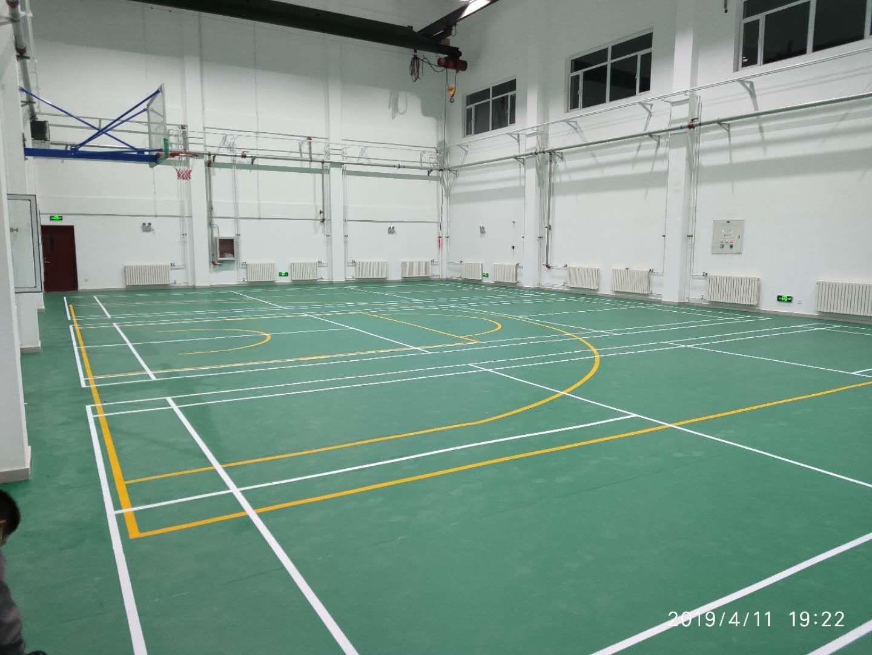 幸运石纹羽毛球PVC运动地板
